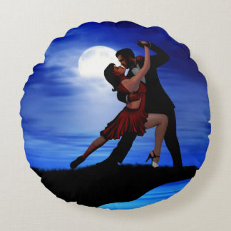 DANCING BY THE MOONLIGHT ROUND PILLOW