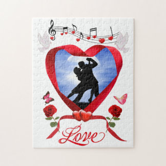 DANCING BY THE SILVERY MOON JIGSAW PUZZLE
