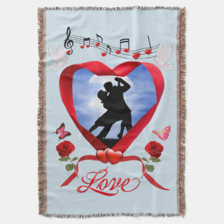 DANCING BY THE SILVERY MOON THROW BLANKET
