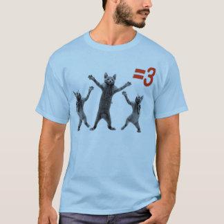 dancing cats equals three nc T-Shirt