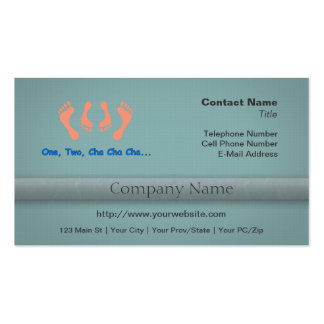 Dancing Cha Cha Feet Business Card Templates