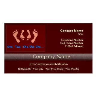 Dancing Cha Cha Feet Business Cards