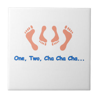 Dancing Cha Cha Feet Ceramic Tile