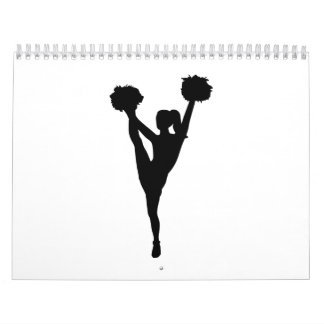 Dancing cheerleader girl wall calendar