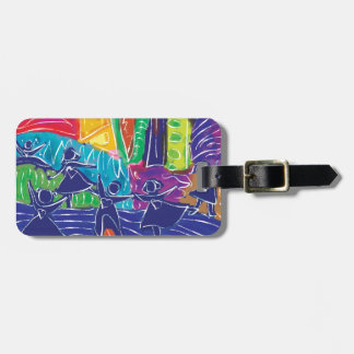 Dancing children bag tag