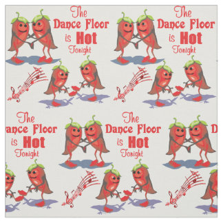 Dancing Chili Peppers Dance Floor Hot Tonight Fabric