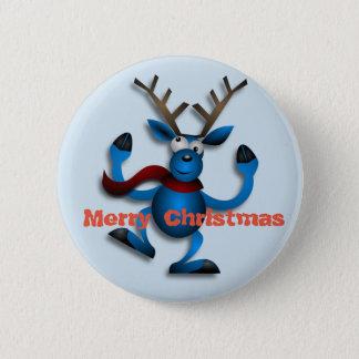 Dancing Christmas Reindeer Button