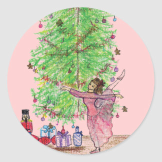 Dancing Clara Nutcracker tees & Gifts Classic Round Sticker