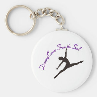 Dancing Comes From the Soul Basic Round Button Keychain
