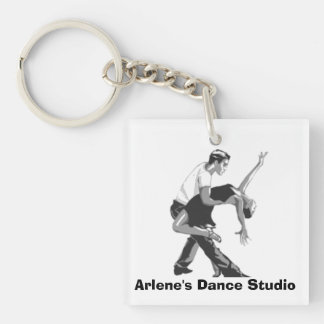 "Dancing Couple ""Business Place"" Key Chain"