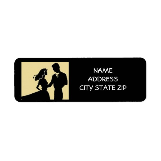 "*DANCING COUPLE"" RETURN ADDRESS LABELS"