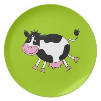 dancing cow dinner plate
