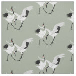 Dancing Cranes Fabric