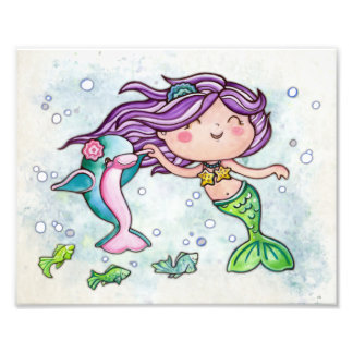 Dancing Cutie Little Mermaid Photo Print