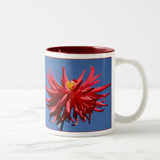 Dancing Dahlias Two-Tone Coffee Mug