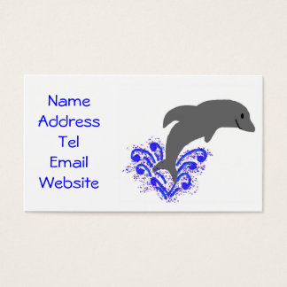 Dancing dolphin business cards