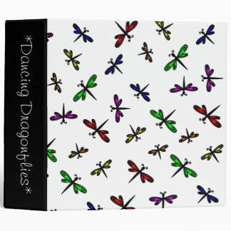 Dancing Dragonflies Custom Binder