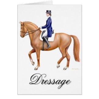 Dancing Dressage Horse Card