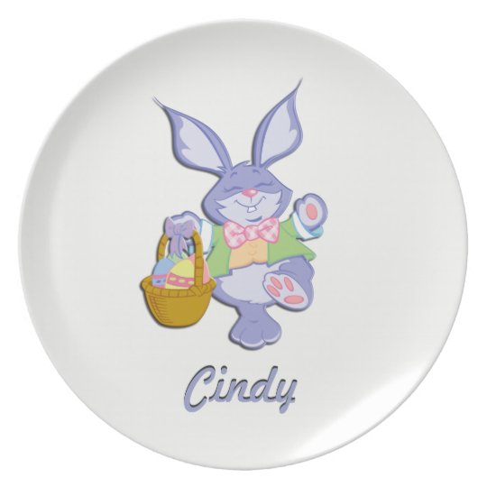 Dancing Easter Bunny Name Plate