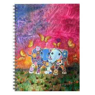 Dancing Elephants 6.5 x 8.75 Notebook