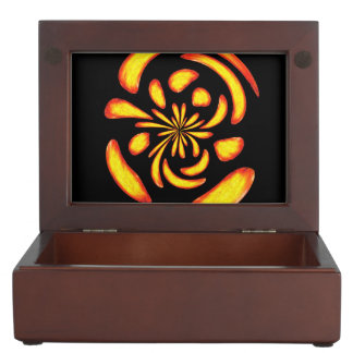 Dancing fire balls keepsake boxes