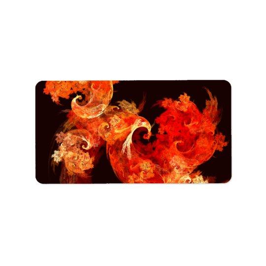 Dancing Firebirds Abstract Art