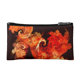 Dancing Firebirds Abstract Art Cosmetic Bags