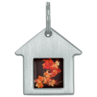 Dancing Firebirds Abstract Art House Pet Name Tag