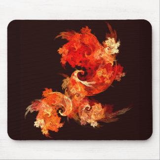Dancing Firebirds Abstract Art Mousepad