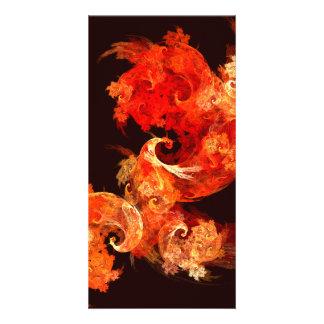 Dancing Firebirds Abstract Art Photo Card