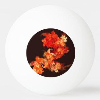 Dancing Firebirds Abstract Art Ping Pong Ball