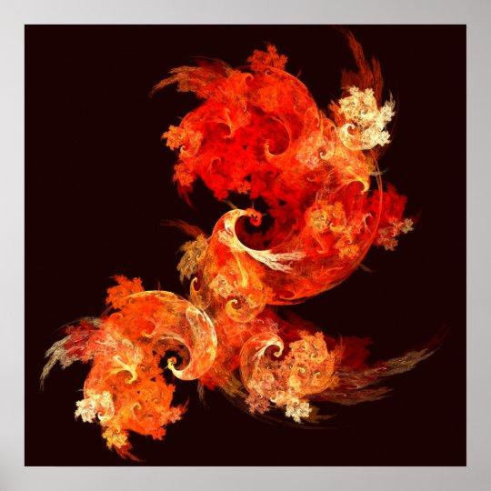 Dancing Firebirds Abstract Art Print