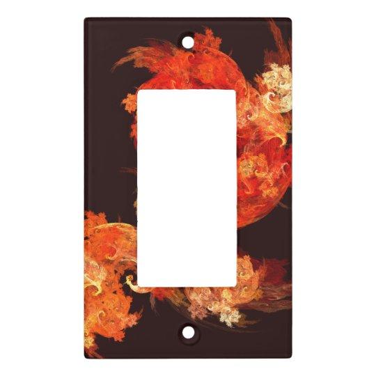 Dancing Firebirds Abstract Art Single Rocker Light Switch Cover