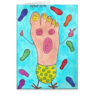 Dancing Foot Card