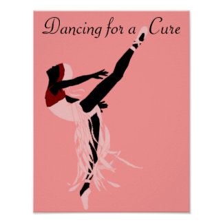 DANCING FOR A CURE BALLERINA print