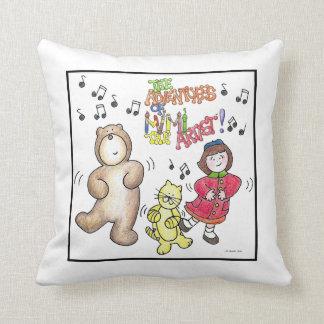 Dancing Friends Throw Pillow