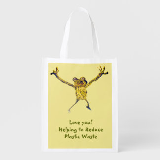 Dancing Frog Art Reusable Grocery Bag