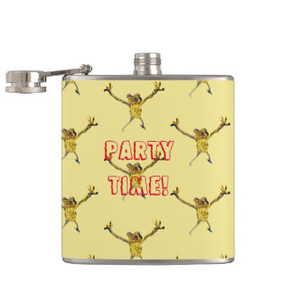 Dancing Frogs Hip Flask