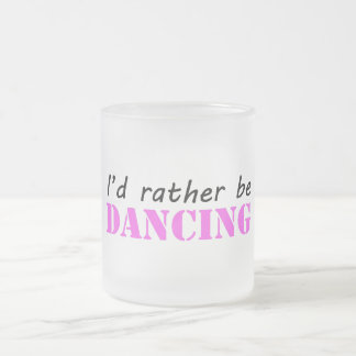 Dancing Frosted Glass Coffee Mug