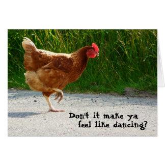 Dancing Funky Chicken Card