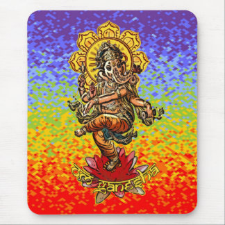 DANCING GANESHA | chakren colors Mouse Pad