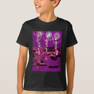 Dancing Ghosts Whimsical Abstract T-Shirt