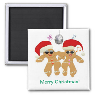 Dancing Gingerbread Cookies Magnet