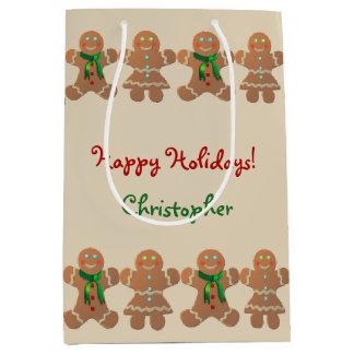 Dancing Gingerbread Cookies Medium Gift Bag