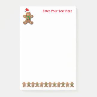 Dancing Gingerbread Cookies Post-it Notes