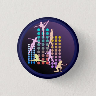 Dancing girl 1 inch round button