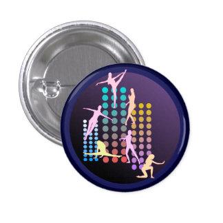 Dancing girl 1 inch round button