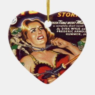 Dancing Girl and Evil Imps Ceramic Ornament