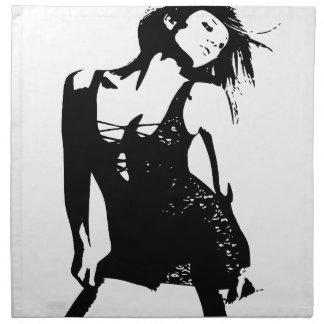 Dancing girl napkin