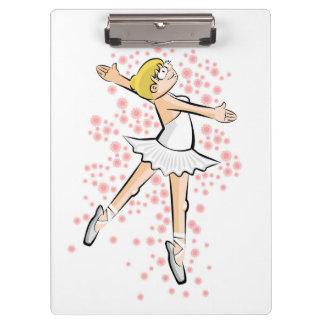 Dancing girl of ballet dances with glamor clipboard